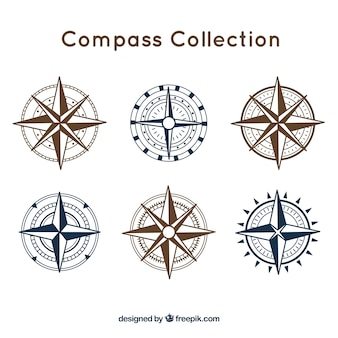 Compass pack of six