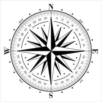 Compass rose isolated illustration