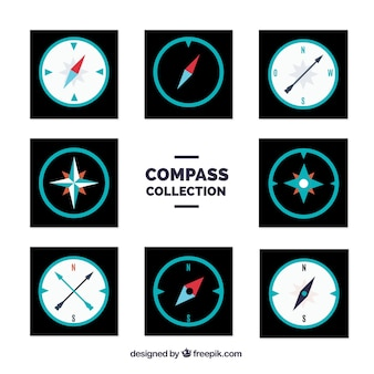 Compass set of eight