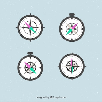 Compass set of four