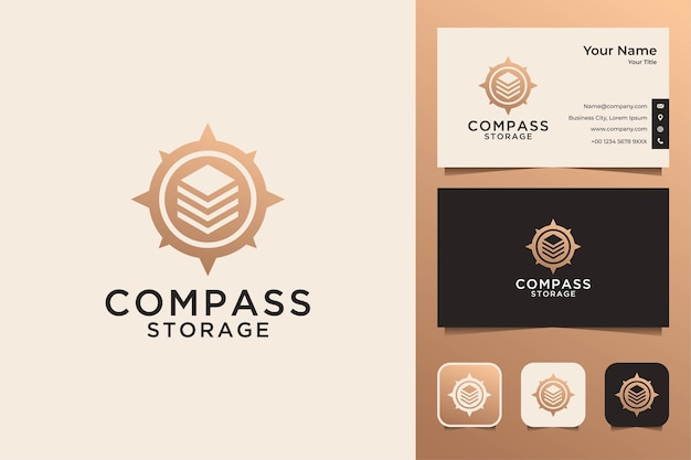 Compass storage logo design and business card