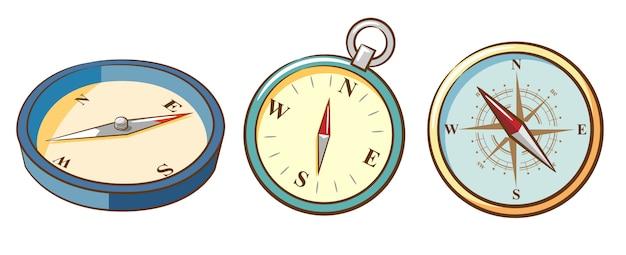Compass vector set clipart design