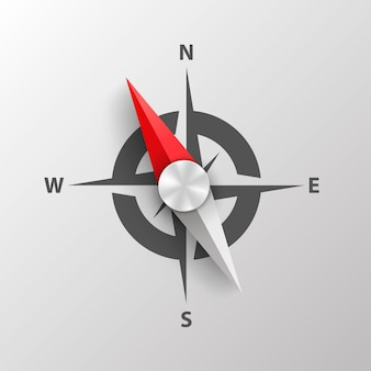 Compass on a white background art. vector illustration.