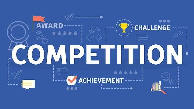 Competition concept. idea of business race and ambition