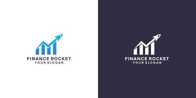 Competition marketing rocket logo