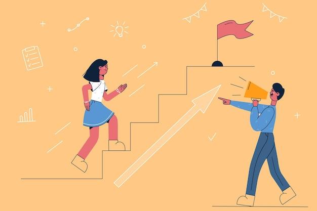 경쟁, 판촉, 발표 개념