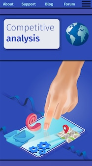 Competitive analysis among users vertical banner.