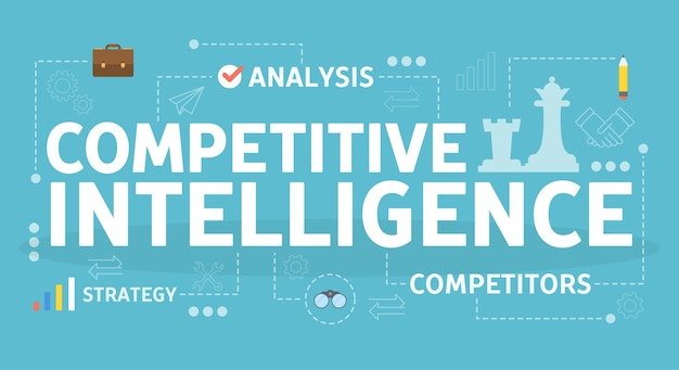 競争力のあるインテリジェンスの概念。事業組織の考え方