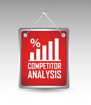 Competitor analysis announcement over gray background vector