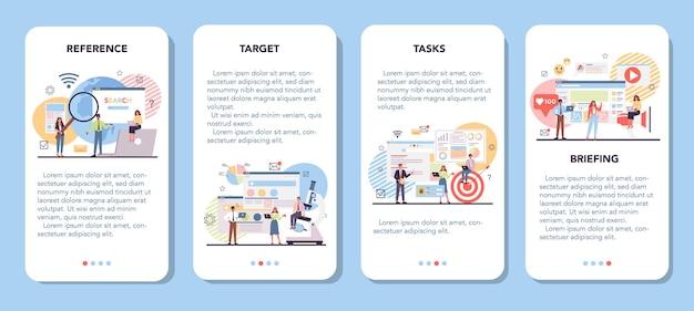 Набор баннеров для мобильного приложения для анализа конкурентов
