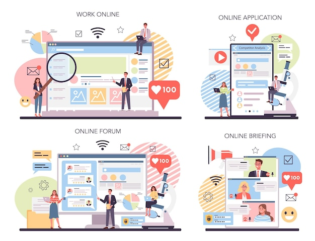 競合他社の分析オンラインサービスまたはプラットフォームセット