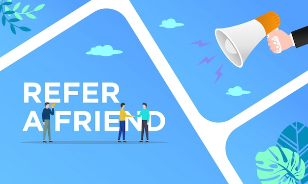Competitor example refer a friend vector illustration