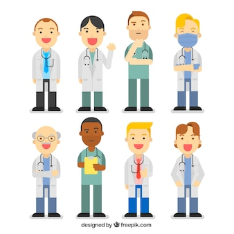 Complete collection of doctors with fun style