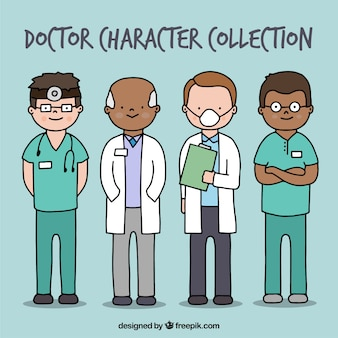 Complete collection of hand drawn doctors