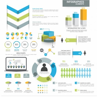 Complete infographic template with different elements