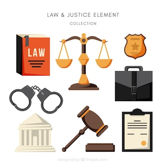 Complete pack of law and justice elements