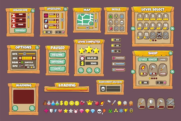 Complete Set Of Graphical User Interface Gui To Build 2d Games And Applications