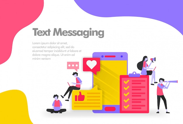 Completing a task with text messaging banner