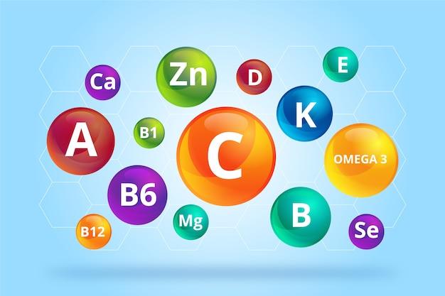 Complex of essential supplements Premium Vector