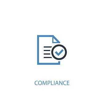 Compliance concept 2 colored icon. simple blue element illustration. compliance concept symbol design. can be used for web and mobile ui/ux