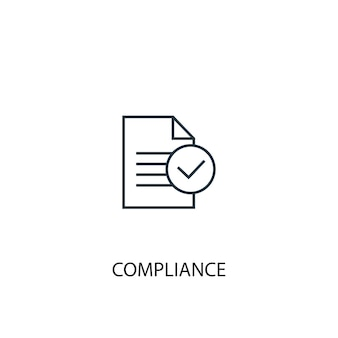 Compliance concept line icon. simple element illustration. compliance concept outline symbol design. can be used for web and mobile ui/ux