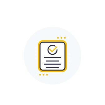 Compliance icon on white