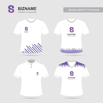 독특한 디자인의 compnay 광고 셔츠