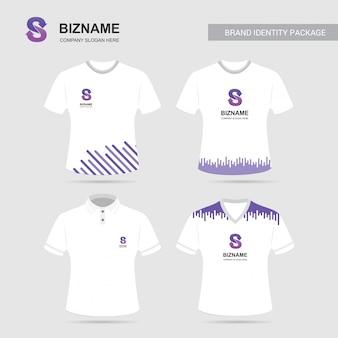 ユニークなデザインのcompnay広告シャツ