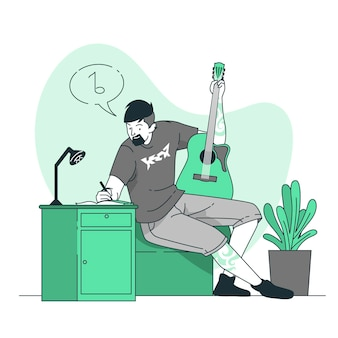Compose music concept illustration
