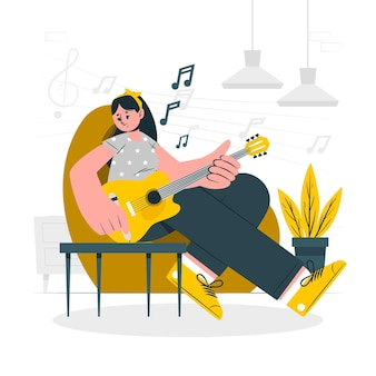 Compose music concept illustration