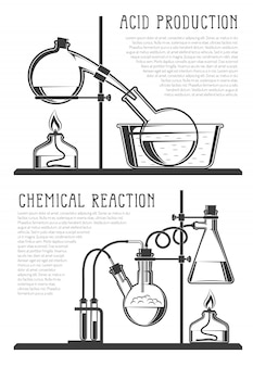 Composition of chemical flasks