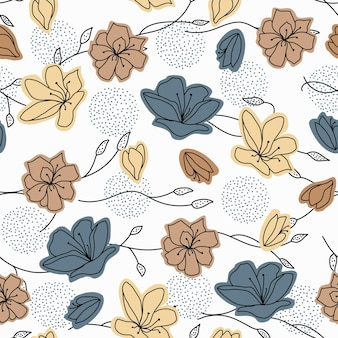 Композиция абстрактных форм ботанические элементы градиента коричневого цвета минимализм рисованной