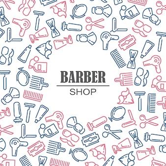 Состав набора иконок для парикмахерской. Бесплатные векторы