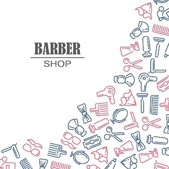 Состав набора иконок для парикмахерской.
