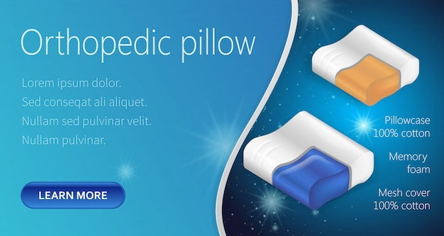 Composition orthopedic pillow