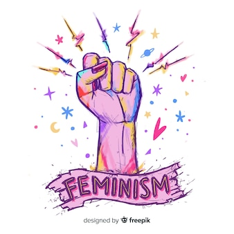 素敵な手描きのフェミニズムcompositionq