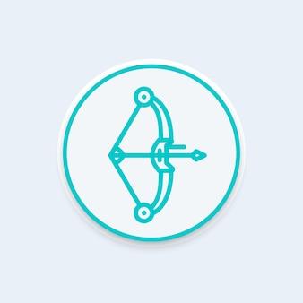 Compound bow line icon