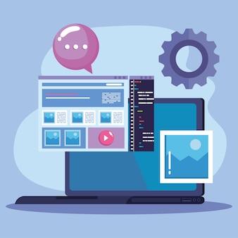 コンピューターとウェブデザイン