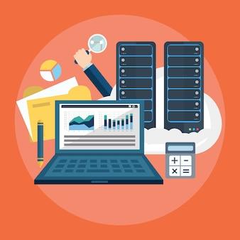 Computer background design