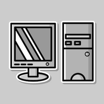 컴퓨터 만화 디자인