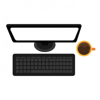 Computer desktop isolated icon design