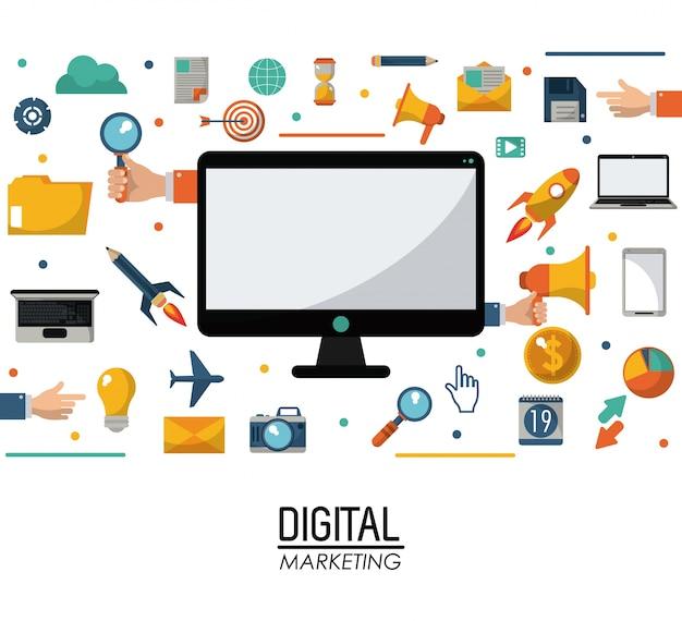 Computer digital marketing business commerce management