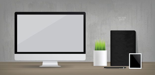 Computer display background in working area