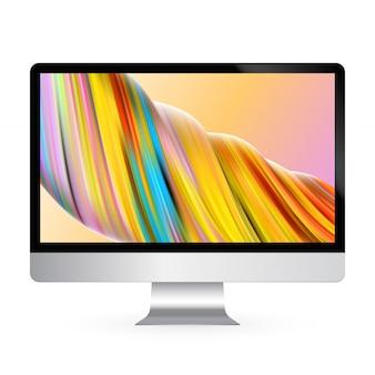 Модель цветного экрана дисплея компьютера Premium векторы