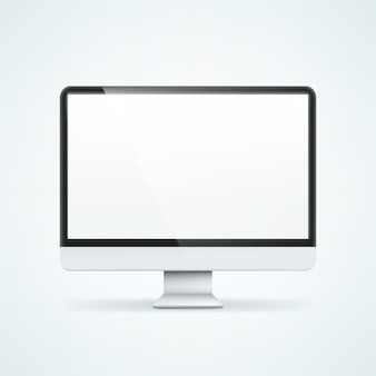 Computer display. illustration isolated on background.