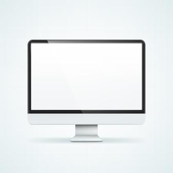 컴퓨터 디스플레이. 배경에 고립 된 그림입니다.