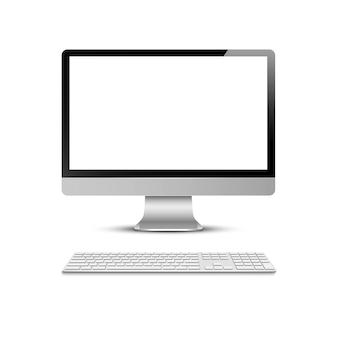 Computer display with keyboard