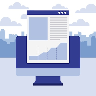 Computer document report chart business