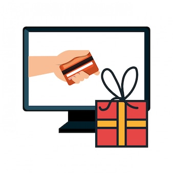 Computer e-commerce buy market isolated