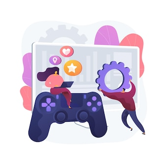 컴퓨터 게임 개발 추상적 인 개념 그림